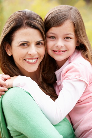 Mom and Daughter - Pediatric Dentist Dr. Kate Malone in Lenoir City, TN.